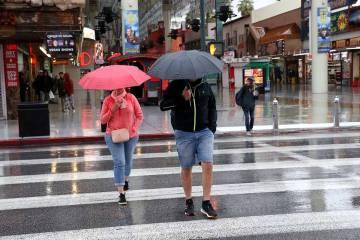 Hay un 50 por ciento de probabilidad de lluvia el miércoles en el valle de Las Vegas. (K.M. Ca ...