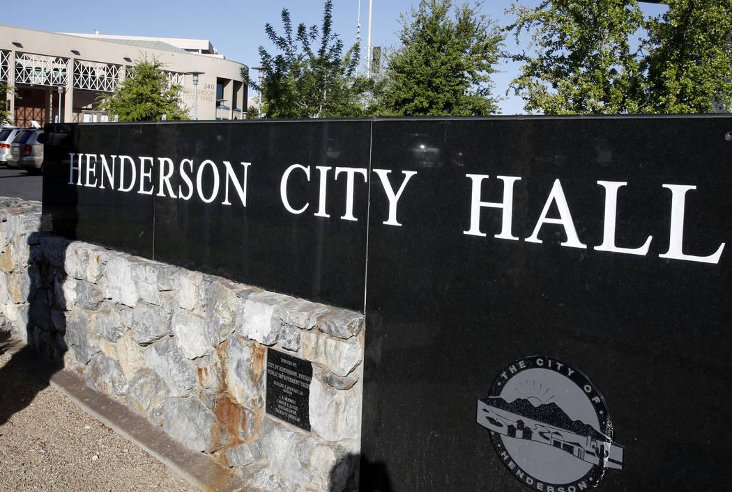 Henderson City Hall el jueves, 13 de abril de 2017. (Bizuayehu Tesfaye / Las Vegas Review-Journ ...