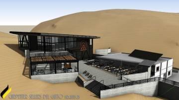 Una representación del nuevo Hillside Lodge en Lee Canyon, que se completará en diciembre de ...