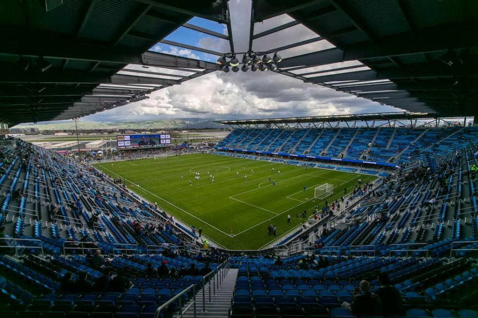 El nuevo Estadio Avaya antes del partido de fútbol MLS entre los San Jose Earthquakes y Los An ...