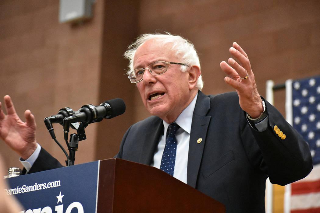 El senador Bernie Sanders recordó que todos los habitantes de EE.UU., excepto los pueblos de i ...