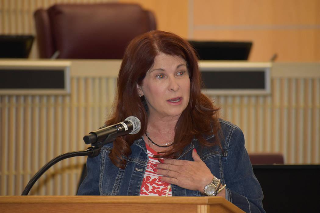 Debra March, alcaldesa de la ciudad de Henderson. Jueves 30 de mayo de 2019, en la Cámara del ...