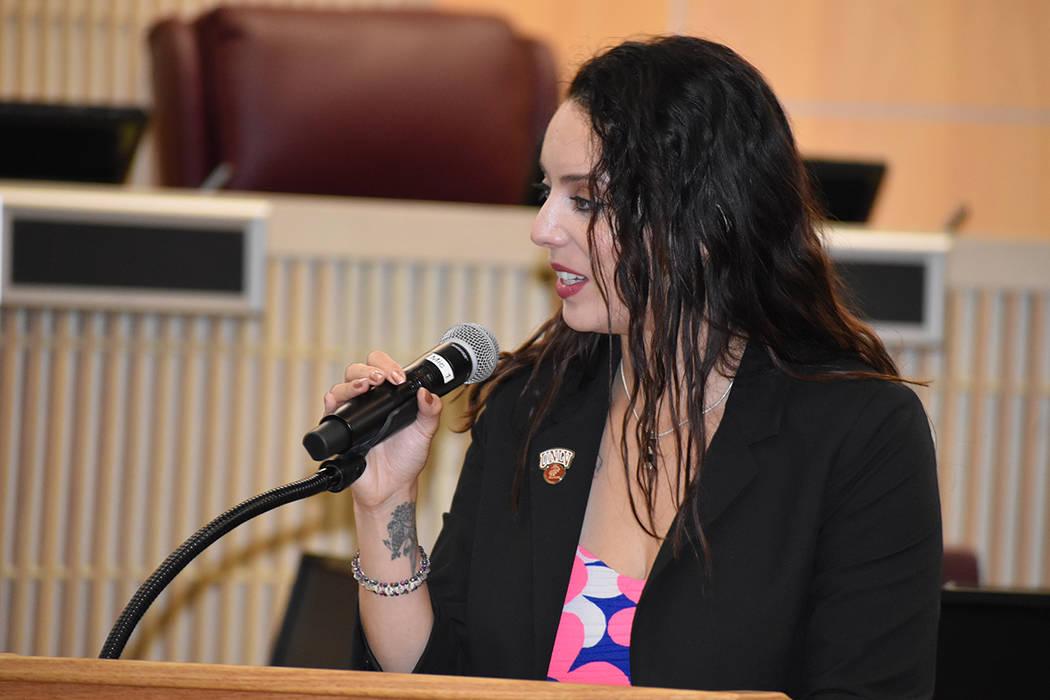 Jahaira Farías, representante regional de la congresista Susie Lee. Jueves 30 de mayo de 2019, ...