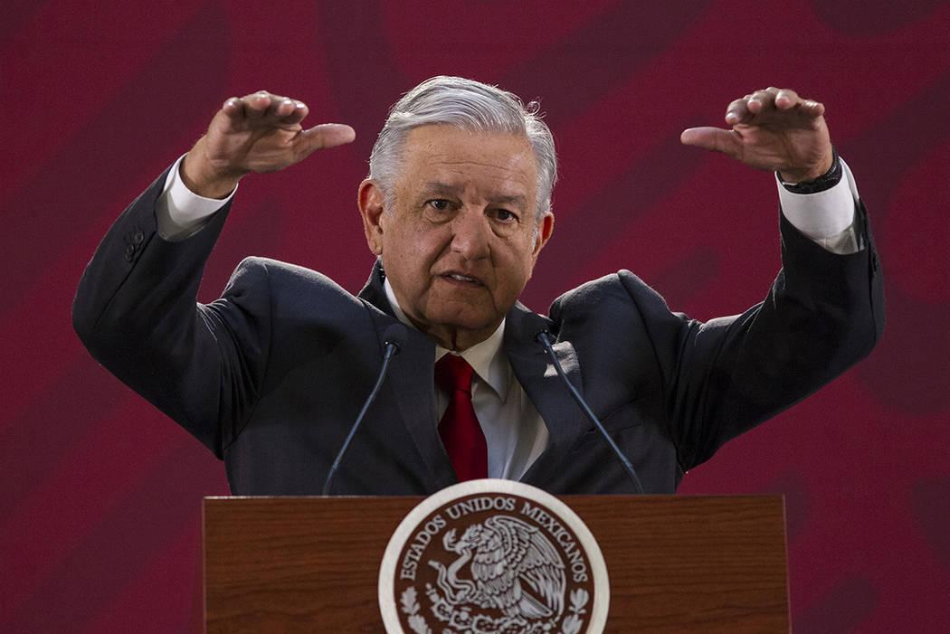 Archivo. México, 3 Abr 2019 (Notimex-José Pazos).- En la conferencia de prensa de esta mañan ...