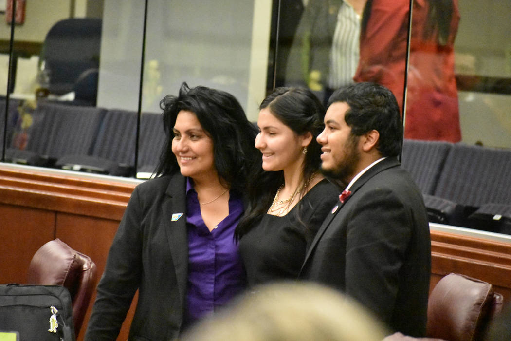 Los Legisladores de Nevada celebraron el final de la 80ava Sesión Legislativa. Martes 4 de jun ...