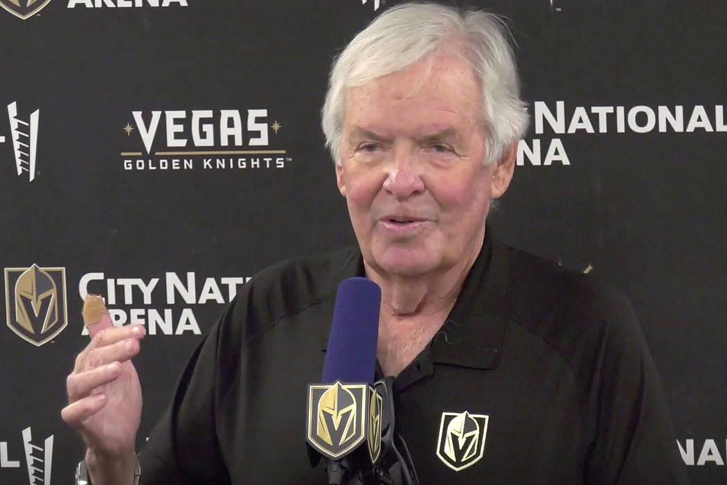 El dueño de los Golden Knights, Bill Foley, habla durante una conferencia de prensa en el City ...
