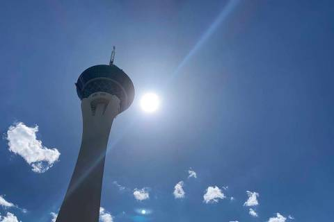 El valle de Las Vegas estará cálido y ventoso hasta el viernes, según el Servicio Meteoroló ...