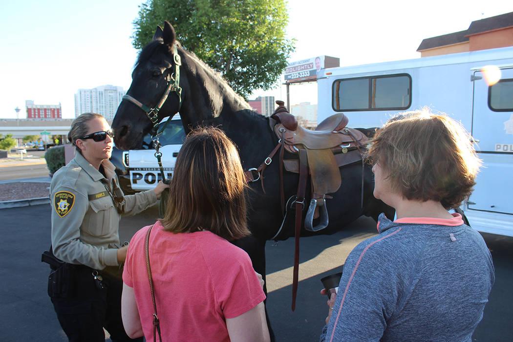 Los oficiales tienen mejor visibilidad al estar montados en el caballo y asisten a eventos masi ...