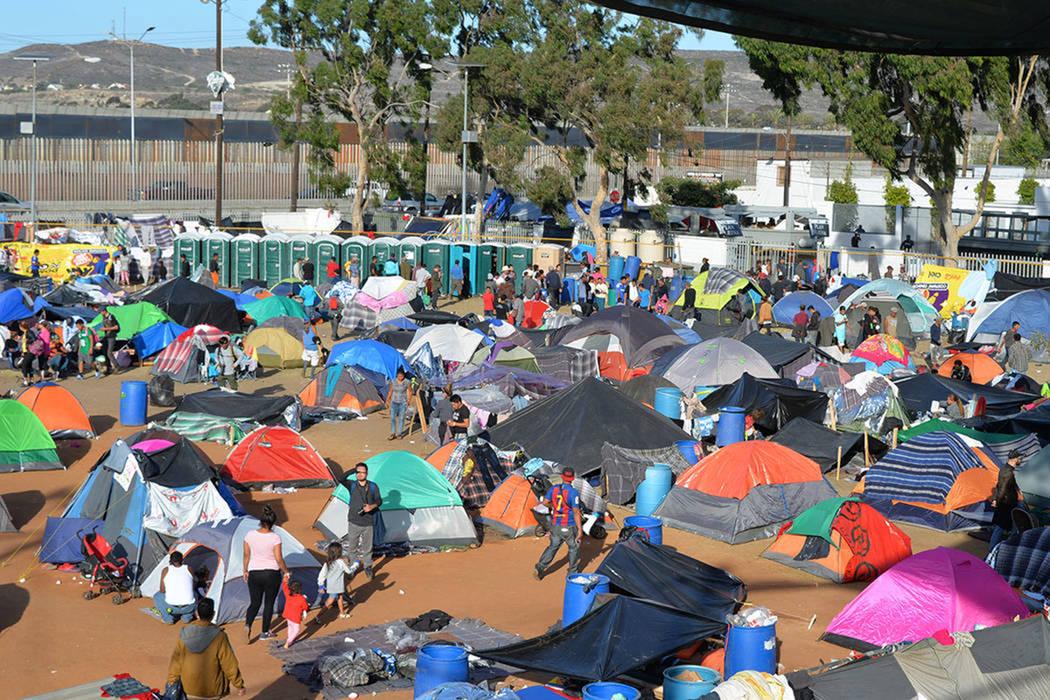 ARCHIVO.- El albergue no cuenta con capacidad suficiente para los miles de migrantes, su capaci ...