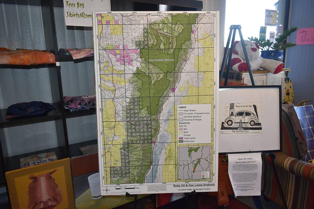 Mapa que muestra las áreas de las montañas Ruby que fueron protegidas gracias a una campaña ...