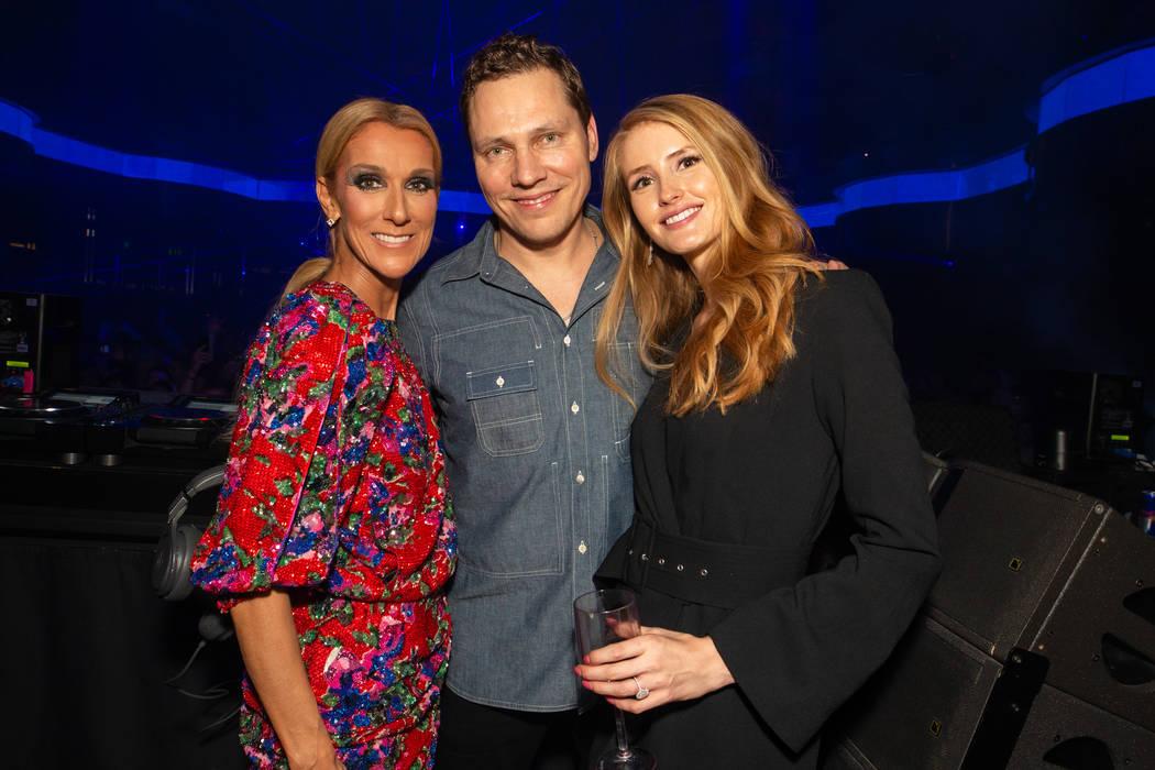 Celine Dion, Tiesto y su novia, Annika Backes, celebran el final de la carrera de 16 años de D ...