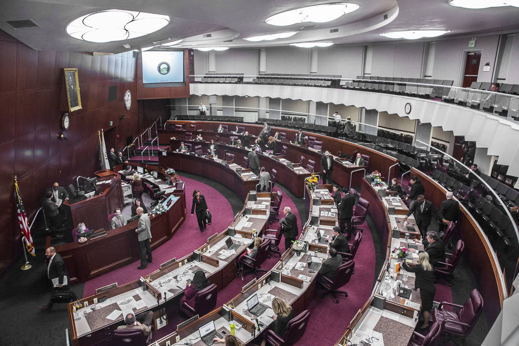 Legislatura de Nevada. (Benjamin Hager/Las Vegas Review-Journal) @benjaminhphoto
