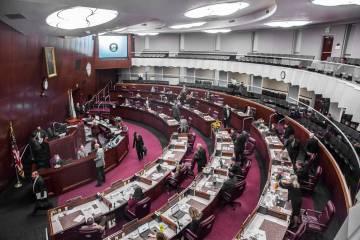Legislatura de Nevada. (Benjamin Hager/Las Vegas Review-Journal) @benjaminhphoto