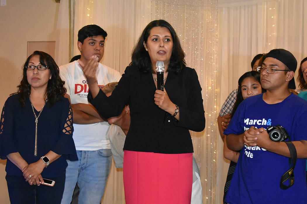 Olivia Díaz agradeció el apoyo de sus familiares y voluntarios que participaron en su campañ ...