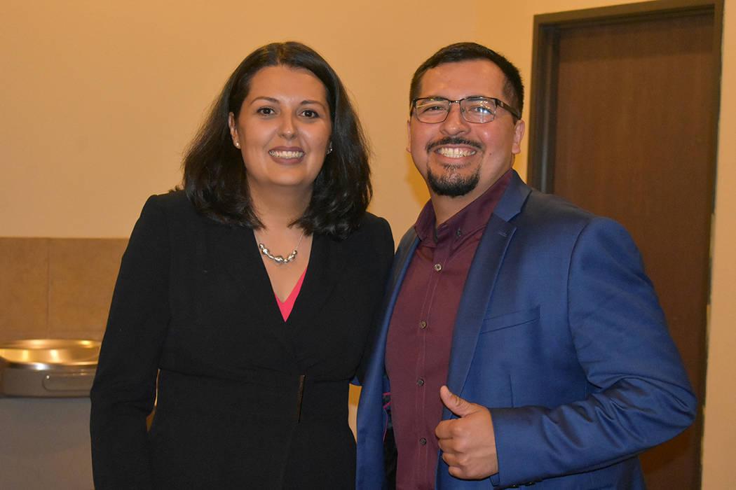 El asambleísta Edgar Flores apoyó a Olivia Díaz en esta elección municipal. Martes 11 de ju ...