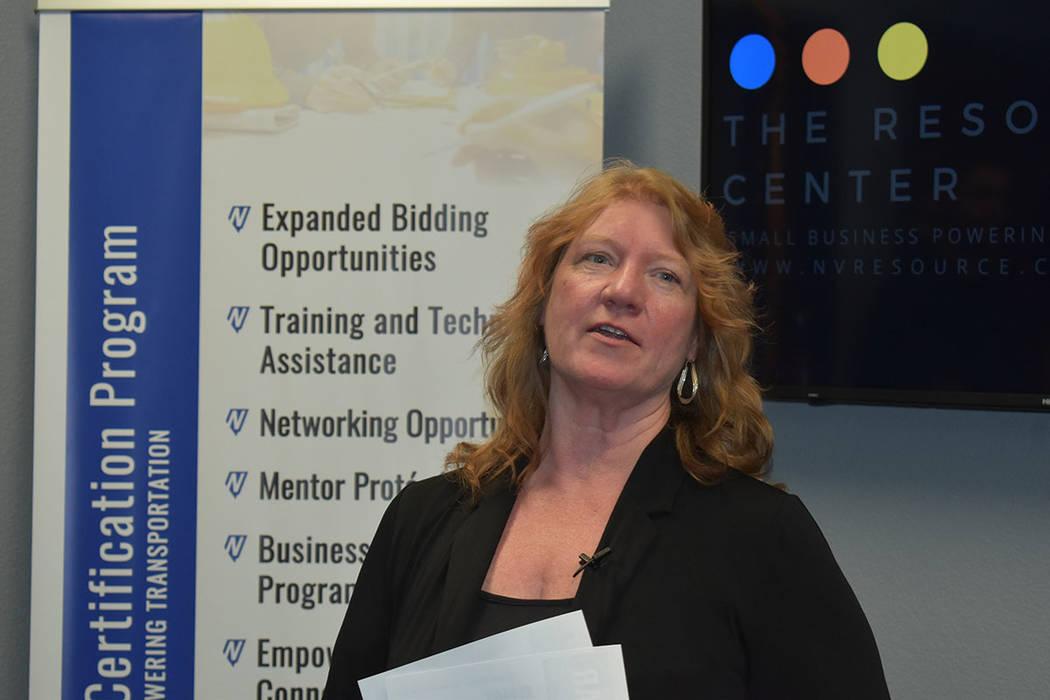 Tracy Larkin, directora adjunta de NDOT. Jueves 13 de junio de 2019 en el Centro de Recursos pa ...