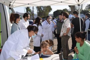Fotografía ilustrativa. Una improvisada unidad de servicios médicos fue instalada en el acces ...