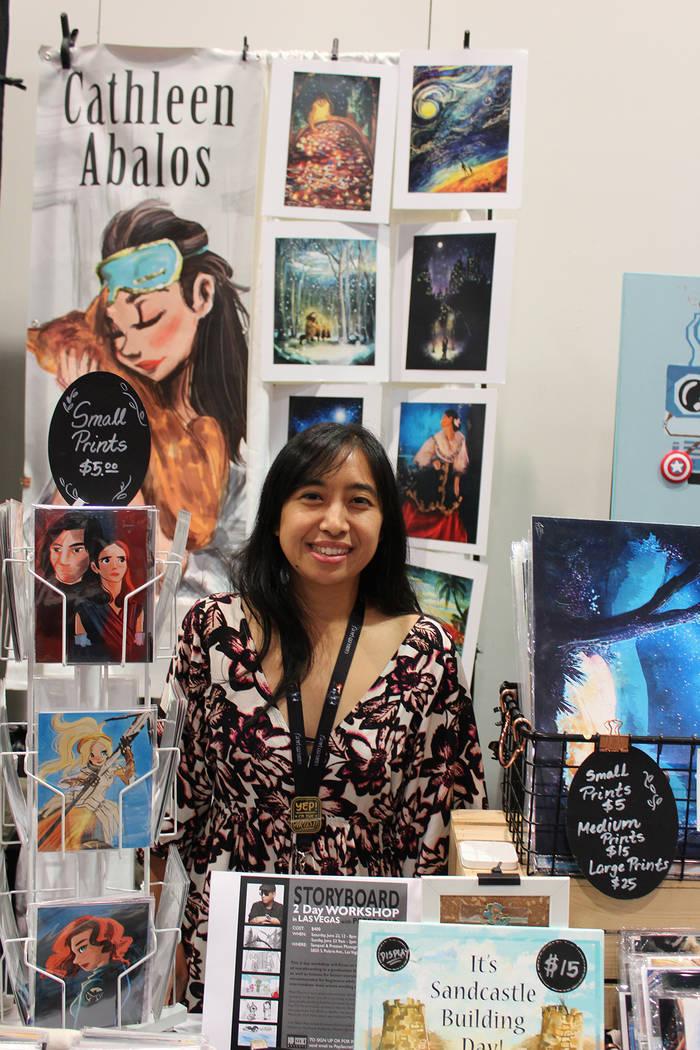 Catheleen Abalos es diseñadora gráfica y dibujante. Sábado 15 de junio del 2019 en Centro de ...