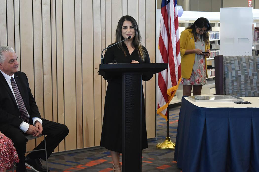 La directora estatal de Mi Familia Vota, Cecia Alvarado, reconoció el trabajo de distintas org ...