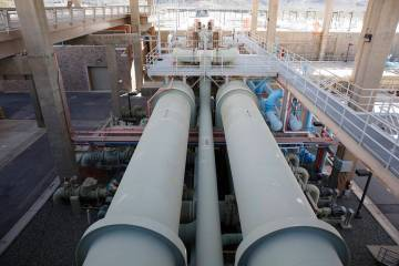 La instalación de tratamiento de agua de River Mountains el miércoles, 25 de enero de 2017, e ...
