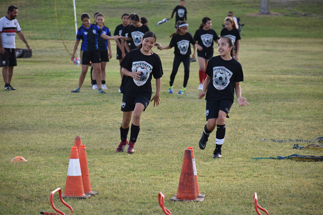 El objetivo de Las Vegas Diversity FC es incentivar el deporte entre niñas y niños de origen ...