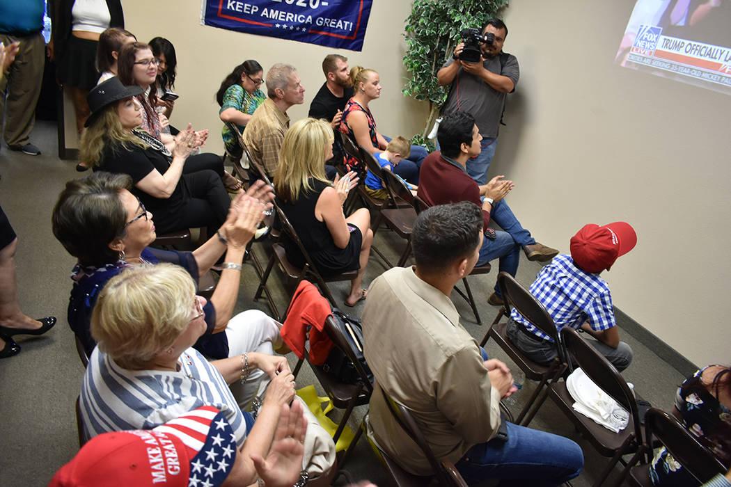 En Nevada se realizaron distintos eventos para observar el inicio de campaña del presidente Tr ...