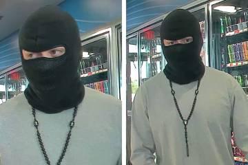 La policía está buscando a un hombre sospechoso de un robo a mano armada el sábado, 8 de jun ...