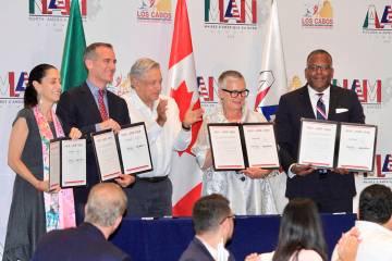 Los Cabos, 7 Jun 2019 (Notimex-Javier Lira).- Al participar en la Cumbre de Alcaldes de Améric ...