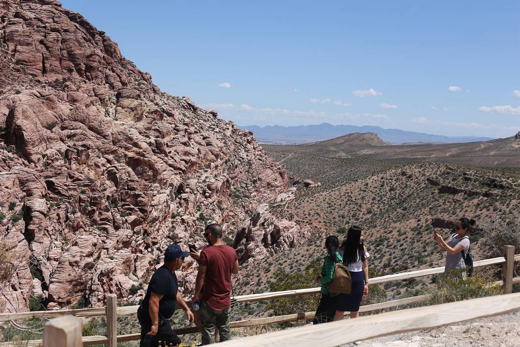 La parada The Calico 1 a lo largo de la ruta escénica del Área de Conservación Nacional de R ...