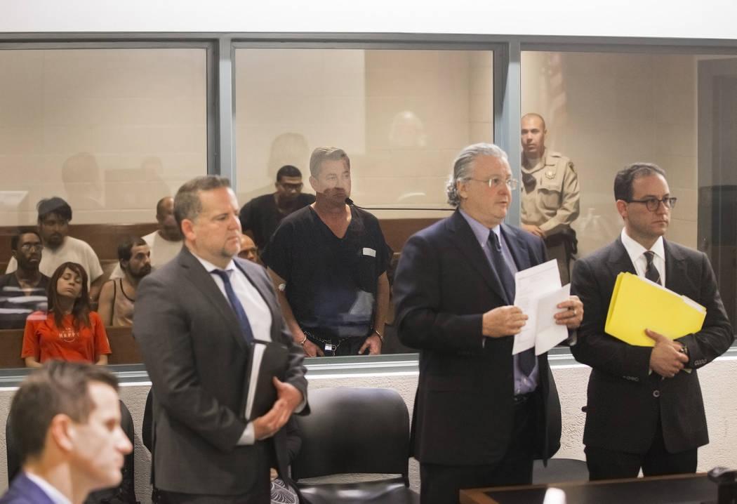 Scott Gragson, nieto del ex alcalde de Las Vegas Oran Gragson, comparece en el Centro de Justic ...