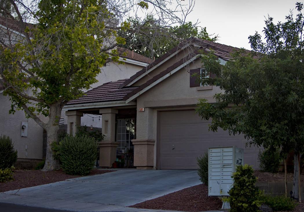La antigua casa de Kari Monson que fue desalojada el año pasado, en Las Vegas, el miércoles 2 ...