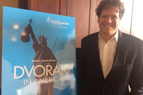 El director de la Filarmónica de Las Vegas, Donato Cabrera, en el anuncio de la temporada 2018 ...