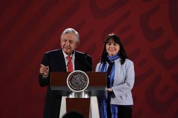 ARCHIVO. México, 27 Jun 2019 (Notimex-Guillermo Granados).- María Elena Álvarez-Buylla, tit ...