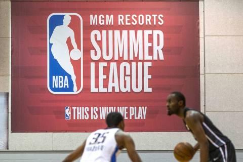 Liga de Verano de la NBA el viernes, 6 de julio de 2018 en el Thomas & Mack Center, en Las Vega ...