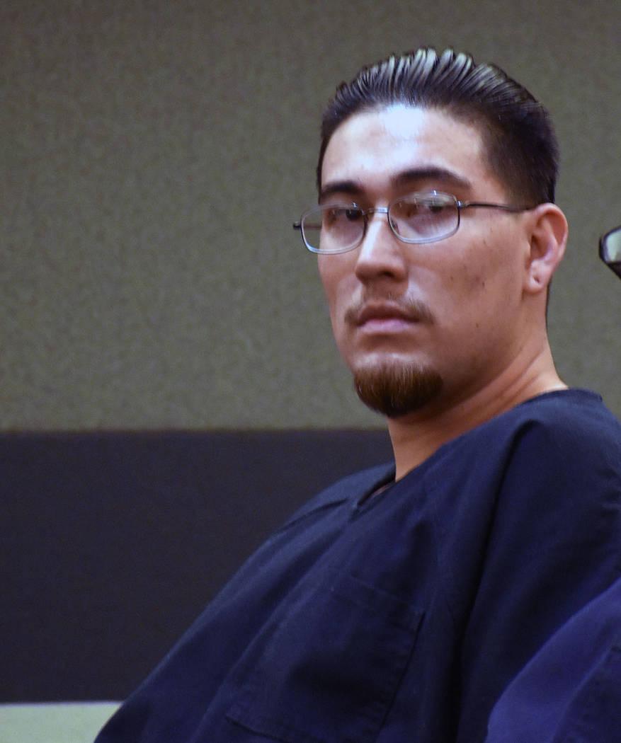 Óscar Padilla durante su comparecencia en el Tribunal de Justicia de Las Vegas el miércoles 1 ...