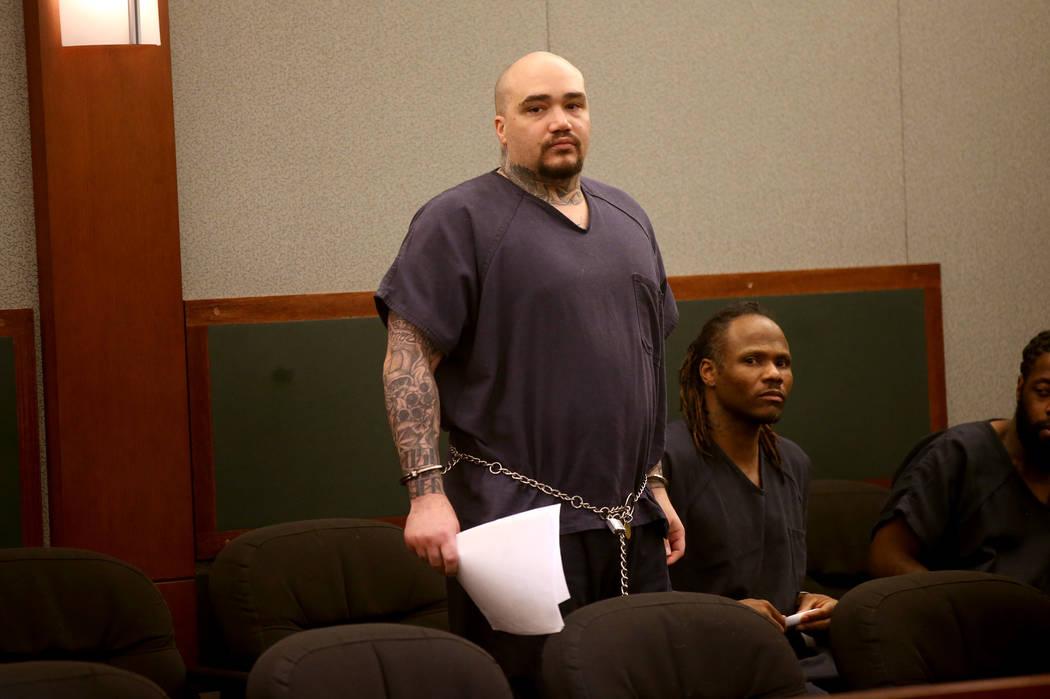 Christopher J. Weygant II, de pie, durante una comparecencia ante el Centro Regional de Justici ...