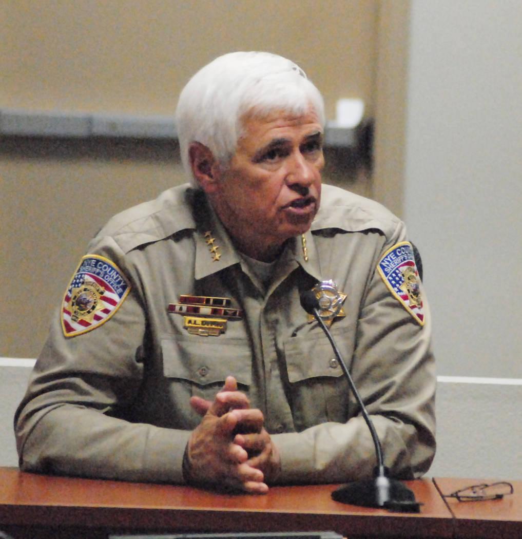 El ex alguacil del Condado de Nye Tony DeMeo en 2013. (Horace Langford Jr./Pahrump Valley Times ...