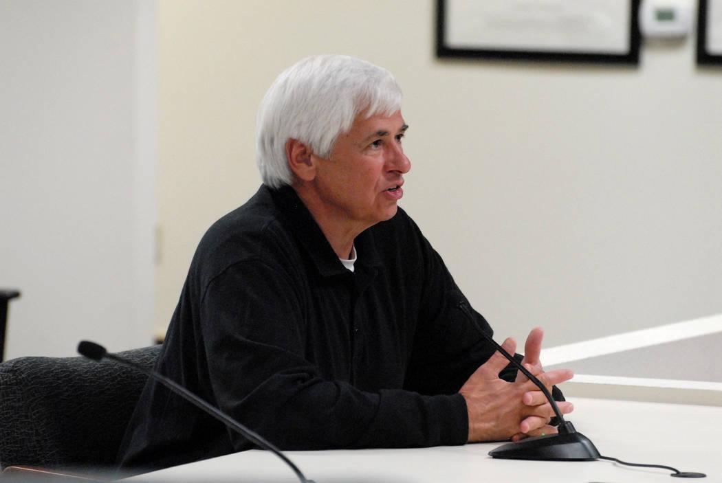 El ex alguacil del Condado de Nye Tony DeMeo en 2014. (Horace Langford Jr./Pahrump Valley Times ...