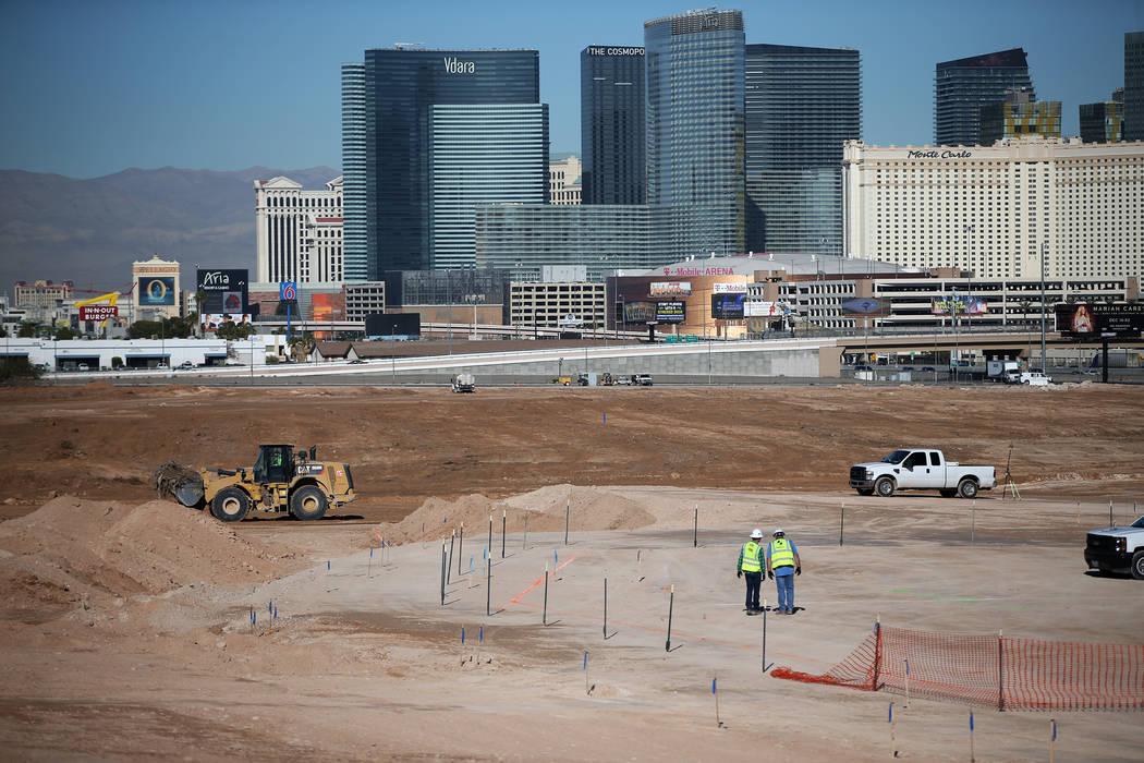 La escena en el estadio de los Raiders en Las Vegas, el martes 12 de diciembre de 2017. Erik Ve ...