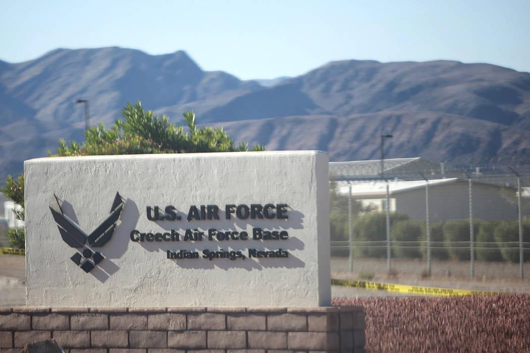 La Base Creech de la Fuerza Aérea en Indian Springs, Nevada. (Las Vegas Review-Journal / El Ti ...