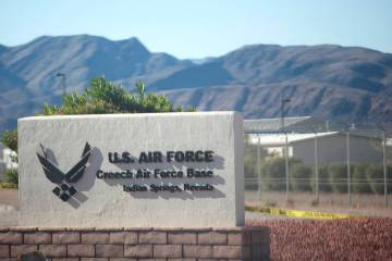 La Base Creech de la Fuerza Aérea en Indian Springs, Nevada. (Las Vegas Review-Journal / El Ti ...