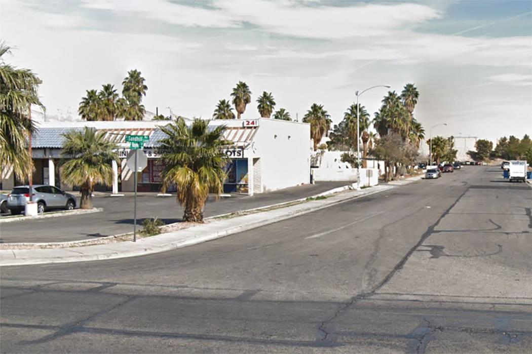 Intersección de Raymert y Sandhill en Las Vegas (Google maps)