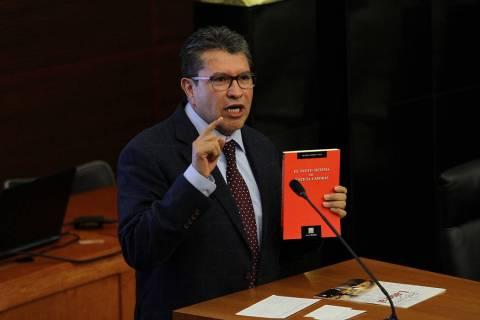 México, 23 Jul 2019 (Notimex-Guillermo Granados).- El Senador Ricardo Monreal Ávila, durante ...