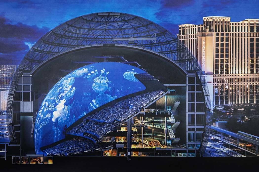 Una sección representativa de MSG Sphere en The Venetian. El lugar de vanguardia tendrá nueve ...