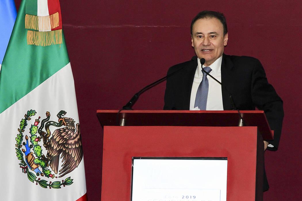 México, 25 Jul 2019 (Notimex-Javier Lira).- El secretario de Seguridad, Alfonso Durazo, en com ...