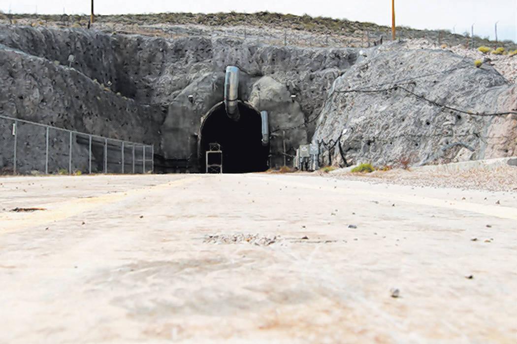 El portal norte del túnel de Yucca Mountain el jueves, 9 de abril de 2015. (Las Vegas Review-J ...