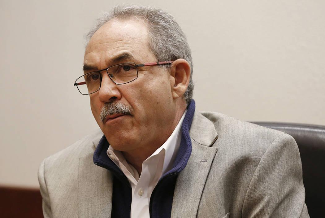John Vellardita, director ejecutivo de la Asociación de Educación del Condado de Clark, en La ...