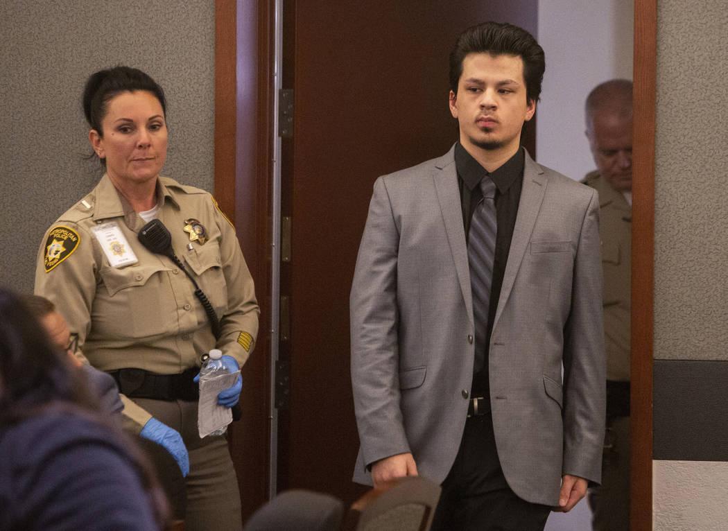 Jaiden Caruso regresa para su veredicto en su juicio por asesinato en el Centro de Justicia Reg ...