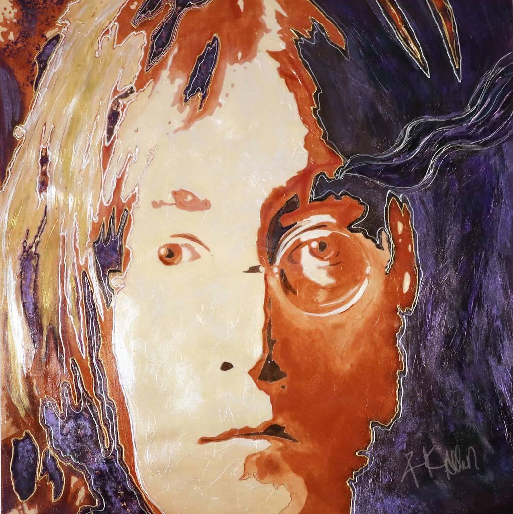 """La colección de arte """"Legends & Dreams 2019"""" de Rick Allen consiste en retratos realistas pero ..."""