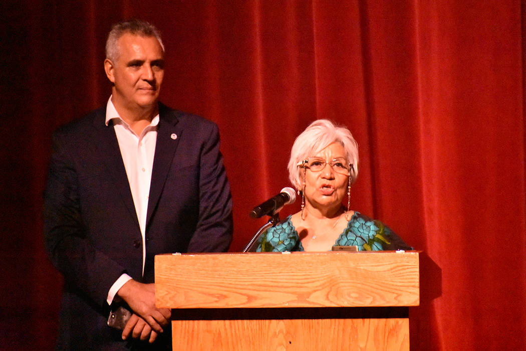 La presidente de ASFEDEJAL Nevada, María Antonieta Larios, aprovechó la ocasión para enviar ...